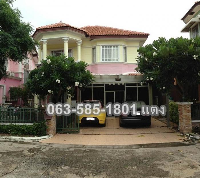 ขายบ้านเดี่ยว 2 ชั้น  60 ตรว.  สุขุมวิท-พัทยา 11 ชลบุรี 063-585-1801 แตง
