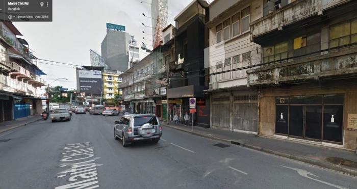 0395 ขายอาคารพาณิชย์ 4 ชั้น ติดถ.ไมตรีจิตต์ ใกล้เยาวราช ใกล้สถานี MRT หัวลำโพง กรุงเทพฯ