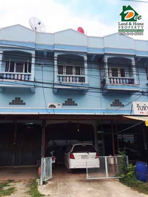 ขายอาคารพาณิชย์ 2.5 ชั้น 23.6 ตรว. ริมถนน โค้งวัดขุนตรา บ้านกุ่ม เมืองเพชรบุรี (SH0032)