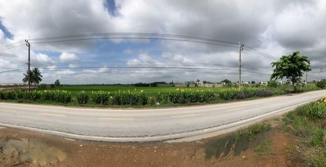 LS 338 ขายที่ดิน 36 ไร่ ถนนเลียบคลองมอญ ลาดกระบัง ใกล้มอเตอร์เวย์กรุงเทพชลบุรี