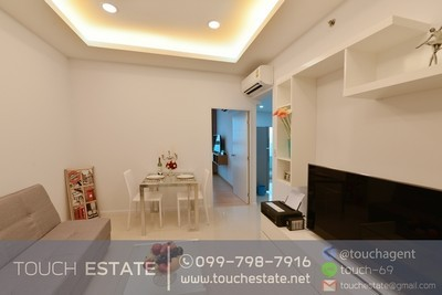 Condo+Sriracha+For Rent+No1712+Swimming Pool View+17F+Combine room+32,200B