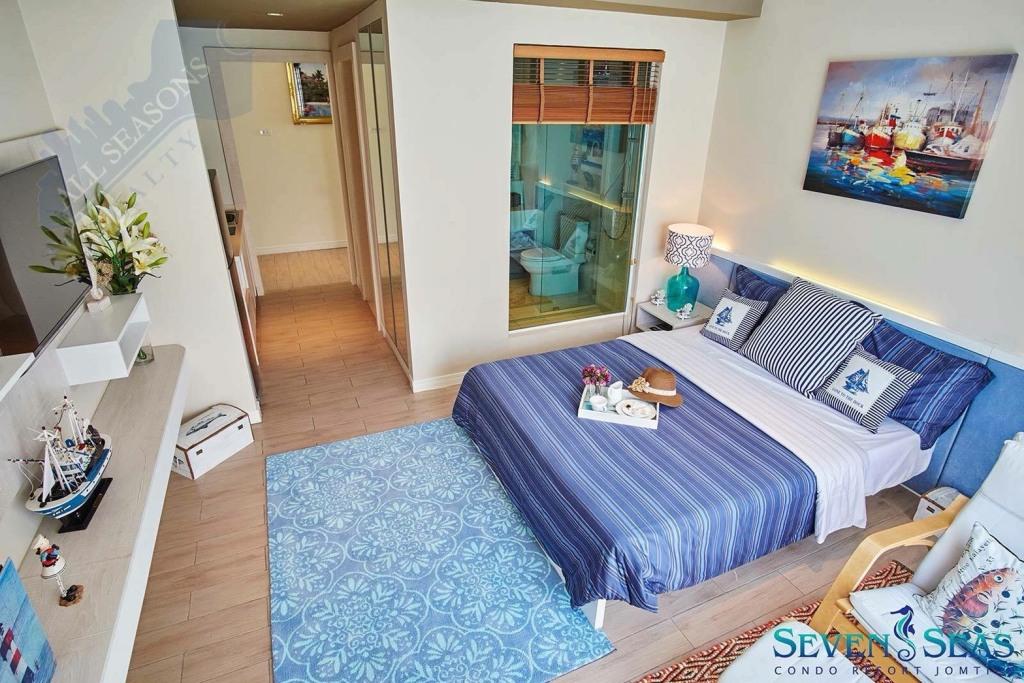 ขายคอนโด SEVEN SEAS RESORT JOMTIEN ห้องสวย ราคาดี โครงการคุณภาพ มีสวนน้ำล้อมรอบโครงการ