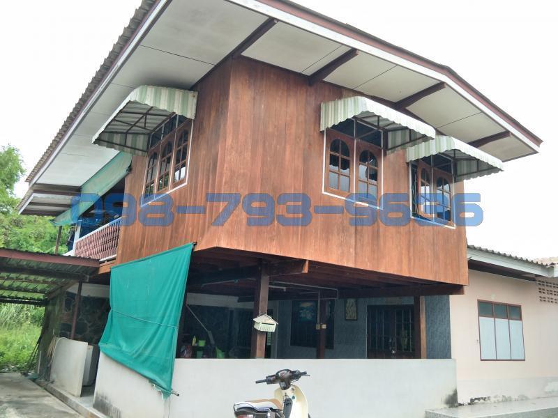 ขายบ้านไม้สัก 102 วา ใกล้แม่น้ำท่าจีน อ.บางเลน จ.นครปฐม ทางหลวงชนบทหมายเลข 3049