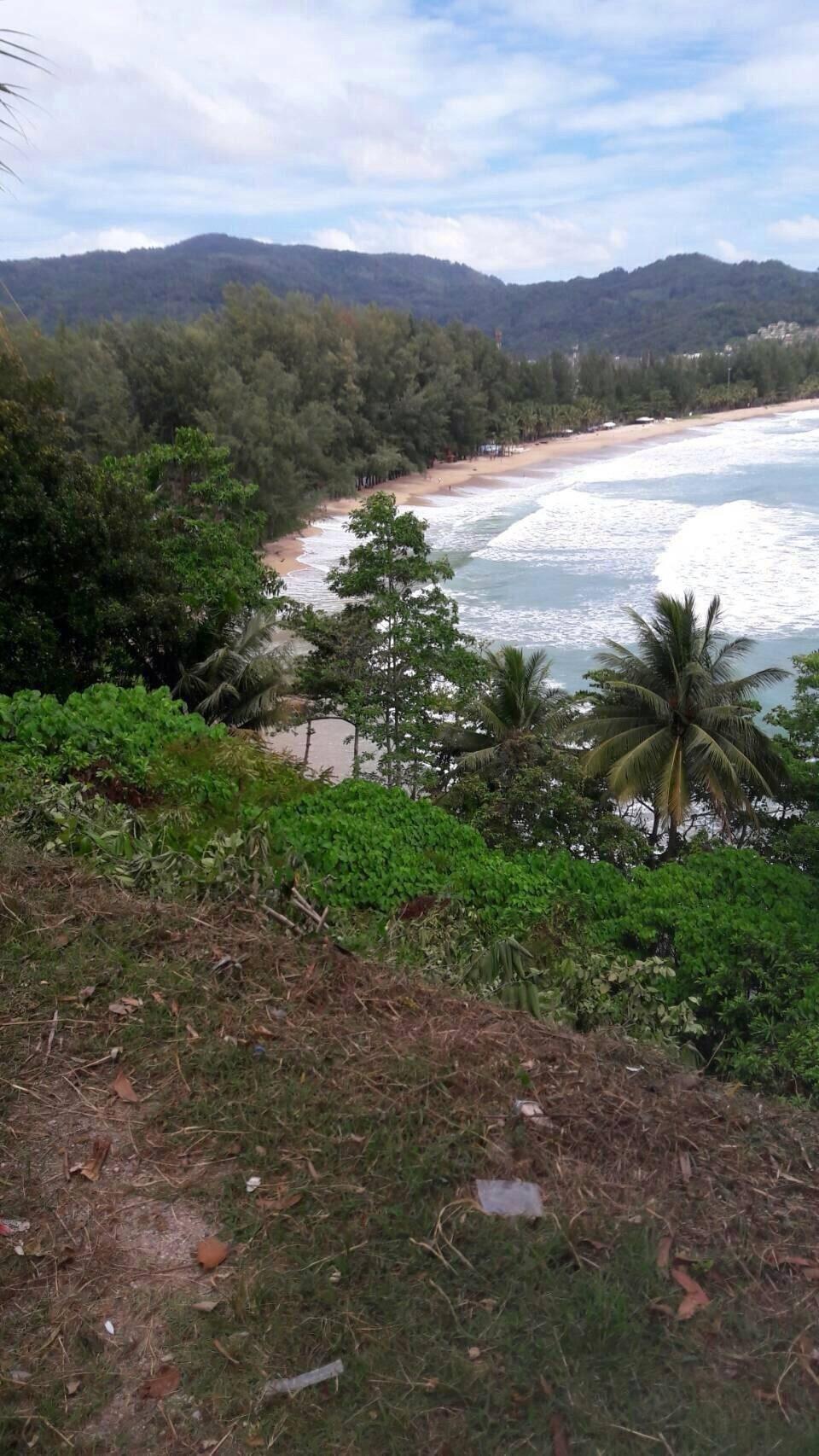 ที่ดินแปลงสวย หน้าติดถนน หลังติดหาด