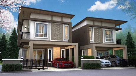 บ้านแฝด สไตล์บ้านเดี่ยว บ้านใหม่ ขาย,ให้เช่า สิปัญ วิลล์ โครงการบ้านใกล้นิคมอีสเทิร์นซีบอร์ด นิคมเหมราช ปลวกแดง ระยอง