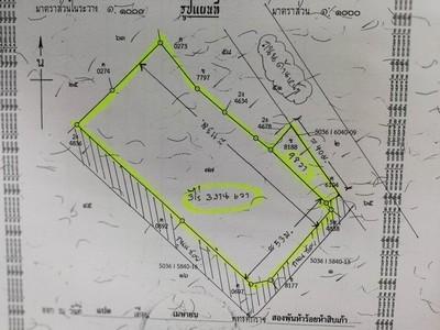 ขายที่ดิน  3 ไร่ 3 งาน 6 วา ไร่ละ8ล้าน ซอยวัดสะพานสูง (ถนน 345 เชื่อมกับถนนชัยพฤกษ์)