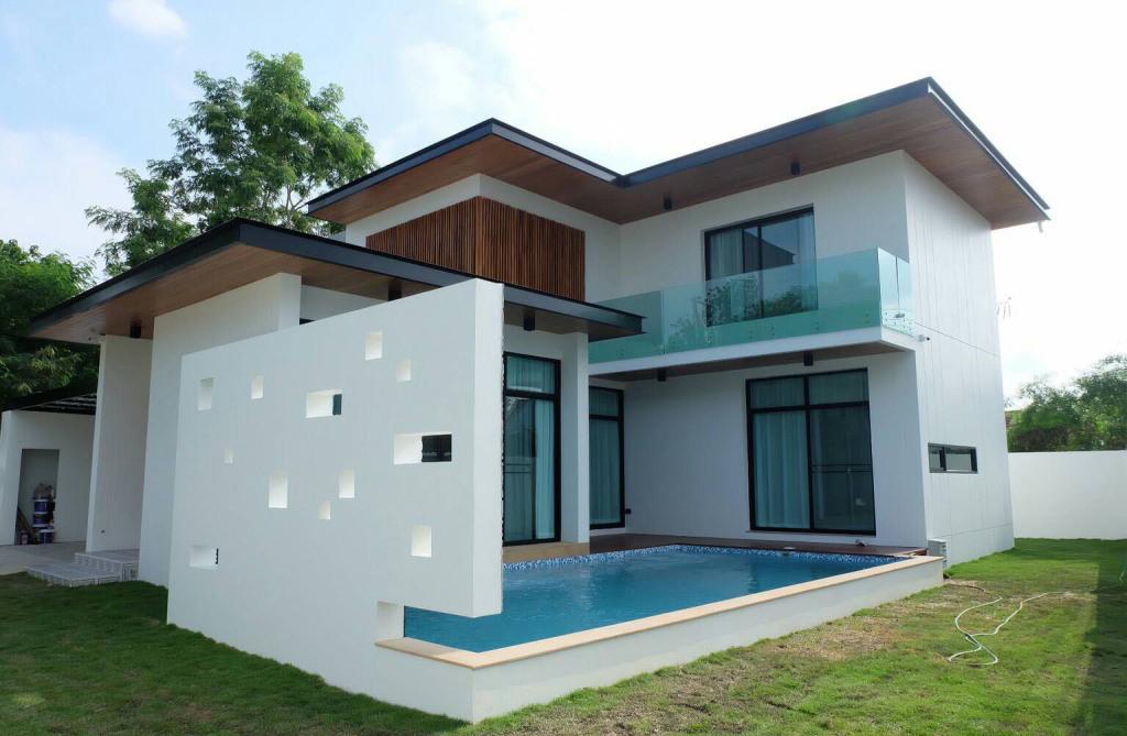 บ้านทรงโมเดิร์นพร้อมสระว่ายน้ำส่วนตัว ทำเลดี เชียงใหม่