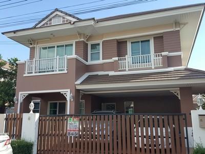 ขายบ้านเดี่ยว 2 ชั้น ม.แกรนด์มณีรินทร์ สามมุข ชลบุรี 3 นอน 3 น้ำ  บ้านสวย ตกแต่งพร้อมอยู่ ราคาพิเศษ