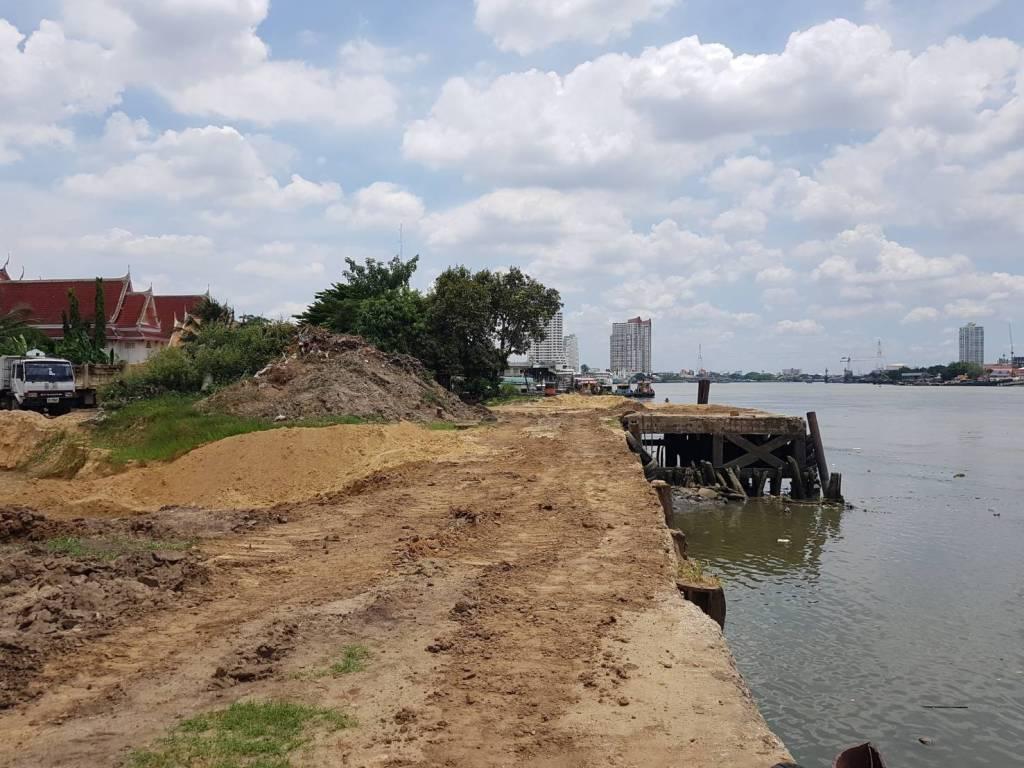 ขายที่ดิน 5 ไร่ 2 งาน ซอยราษฎร์บูรณะ 23 ติดแม่น้ำเจ้าพระยา เหมาะสำหรับสร้างโรงแรม คอนโด