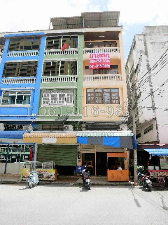 ขายตึกทำเลดี 4.5 ชั้น ซ.ตลาดสี่มุมเมือง แหลมบฉบัง(ชลบุรี) เนื้อที่ 18.4  ตรว. ค้าขายได้ ราคาถูก