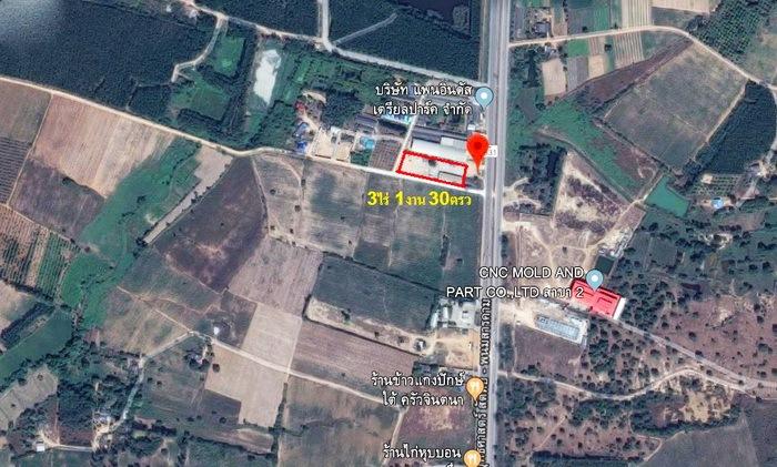 ขายที่ดิน 3-1-30 ไร่ ถนน 331 นาวังหิน พนัสนิคม  ชลบุรี  ใกล้นิคมอุตสาหกรรม