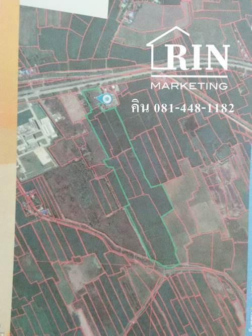 ขายที่ดิน 116-3-91 ไร่ ติดโรงงานยาคูลท์ อยุธยา ติดถนน 347    คิน 081-448-1182