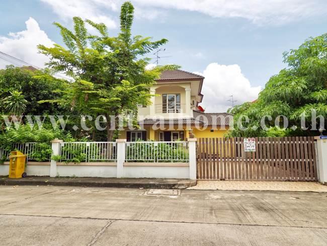 ขายบ้านเดี่ยว 82.5 ตร.ว. หมู่บ้าน ประดับดาว 4 ถนนราชพฤกษ์ - รัตนาธิเบศร์ ท่าอิฐ (หลังมุม)