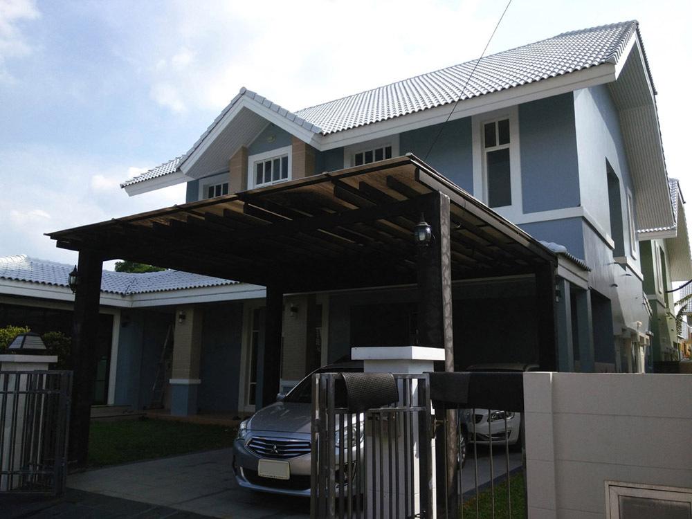 บ้านเดี่ยว 2ชั้น  โครงการ บ้านริมสวน  รามอินทรา กม.14   บ้านใหม่ หลังมุม