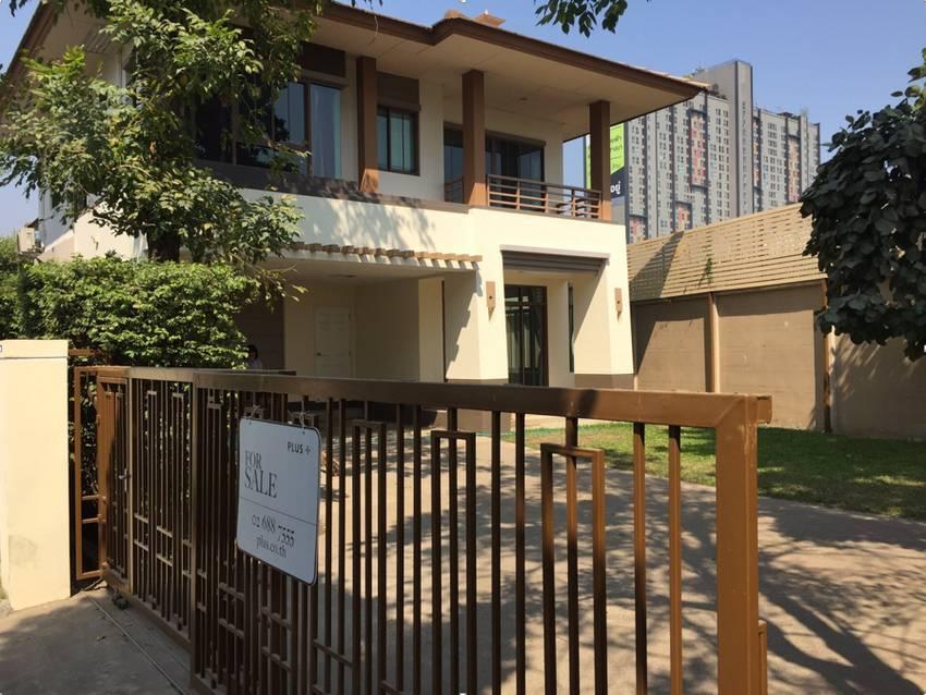 ขาย/เช่า บ้านเดี่ยวใกล้เมกะบางนา โครงการ เศรษฐสิริ บางนา-วงแหวน (85ตร.วา/3ห้องนอน) ใกล้สุวรรณภูมิ บ้านพร้อมอยู่